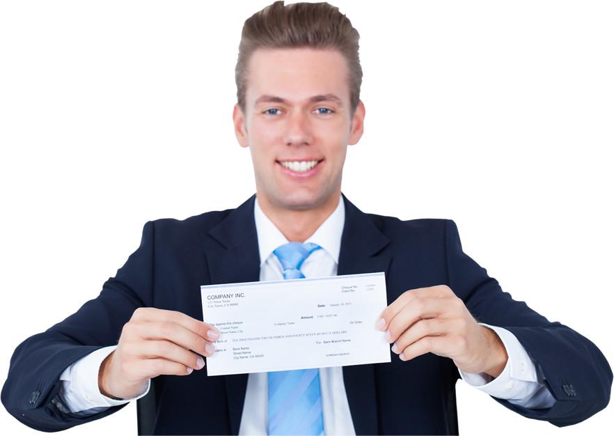 Cambio de cheques por efectivo
